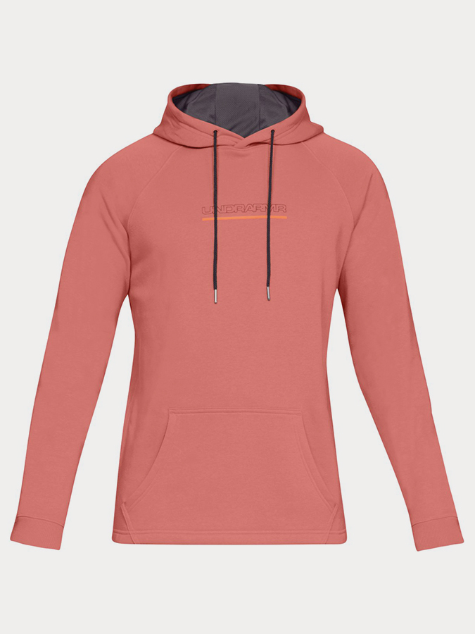 Mikina Under Armour Baseline FLC Graphic Hood-ORG (3)