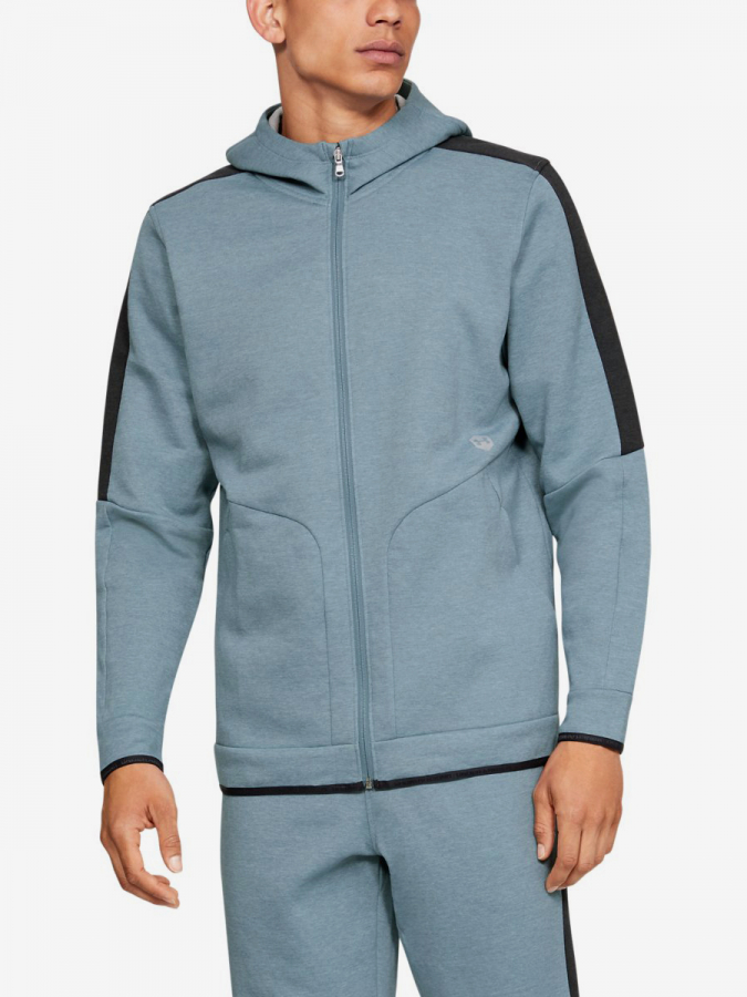 Mikina Under Armour Athlete Recovery Fleece Full Zip-Gry (1)