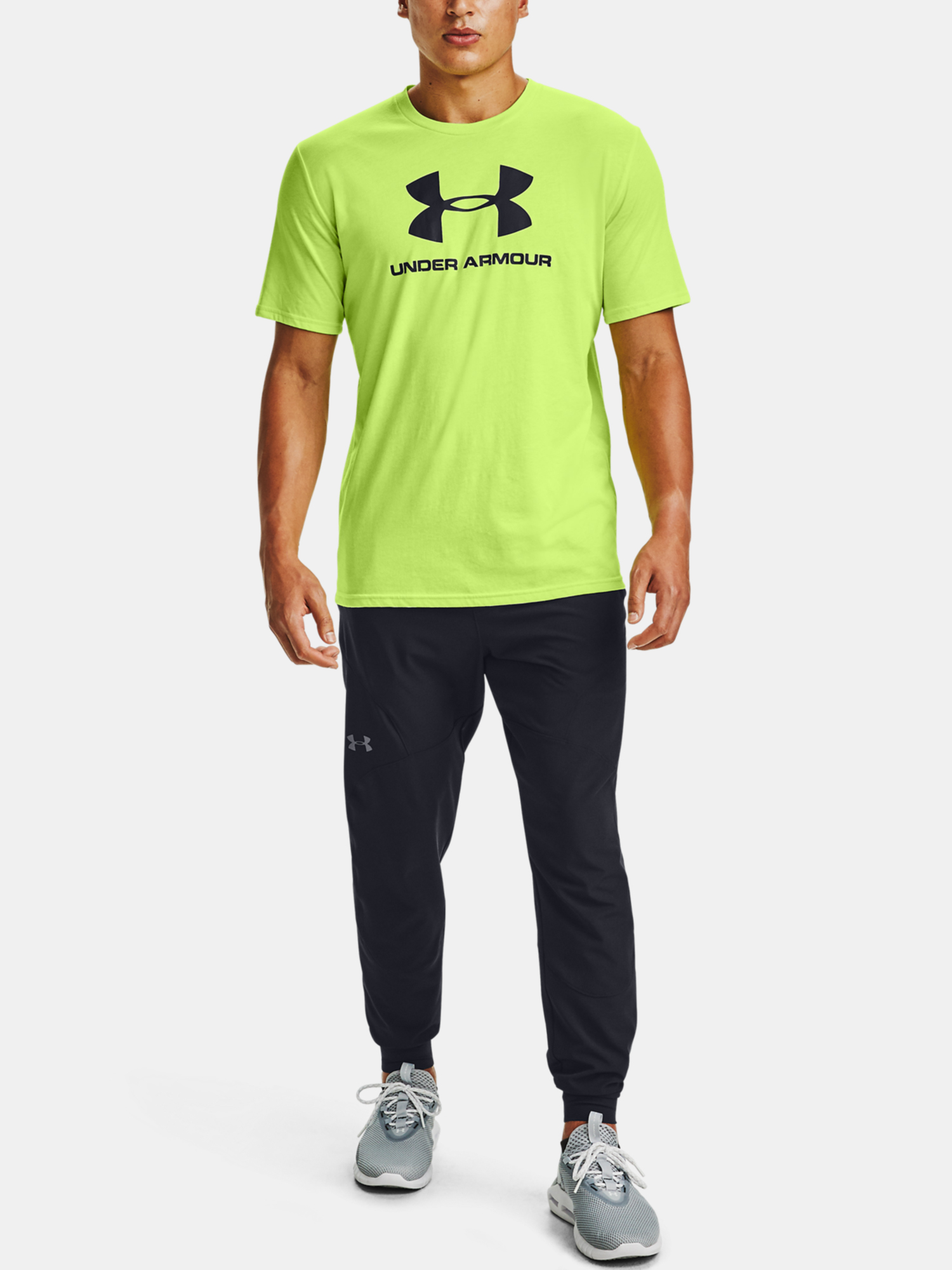 Tričko Under Armour SPORTSTYLE LOGO SS-GRN (6)
