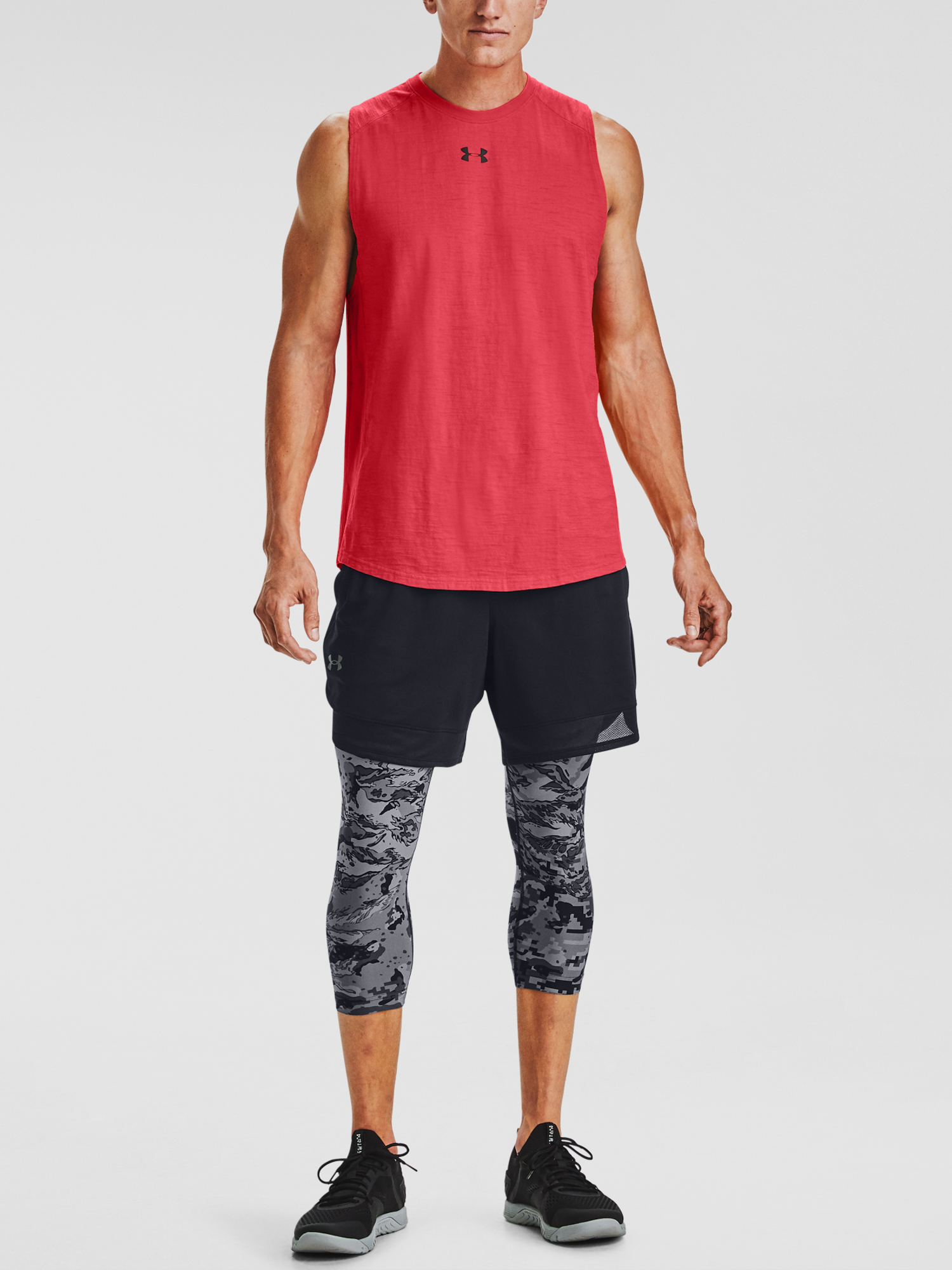 Tielko Under Armour UA Charged Cotton Tank-RED (3)