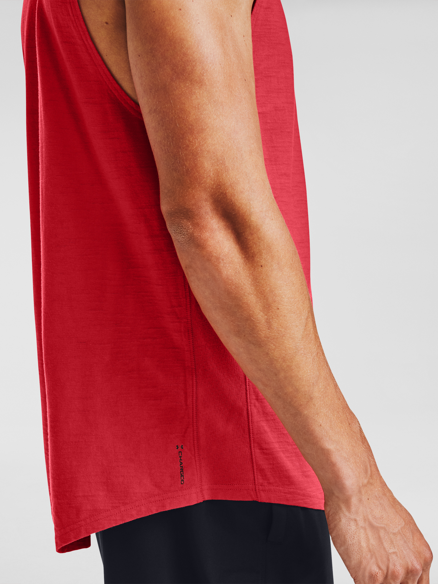 Tielko Under Armour UA Charged Cotton Tank-RED (4)