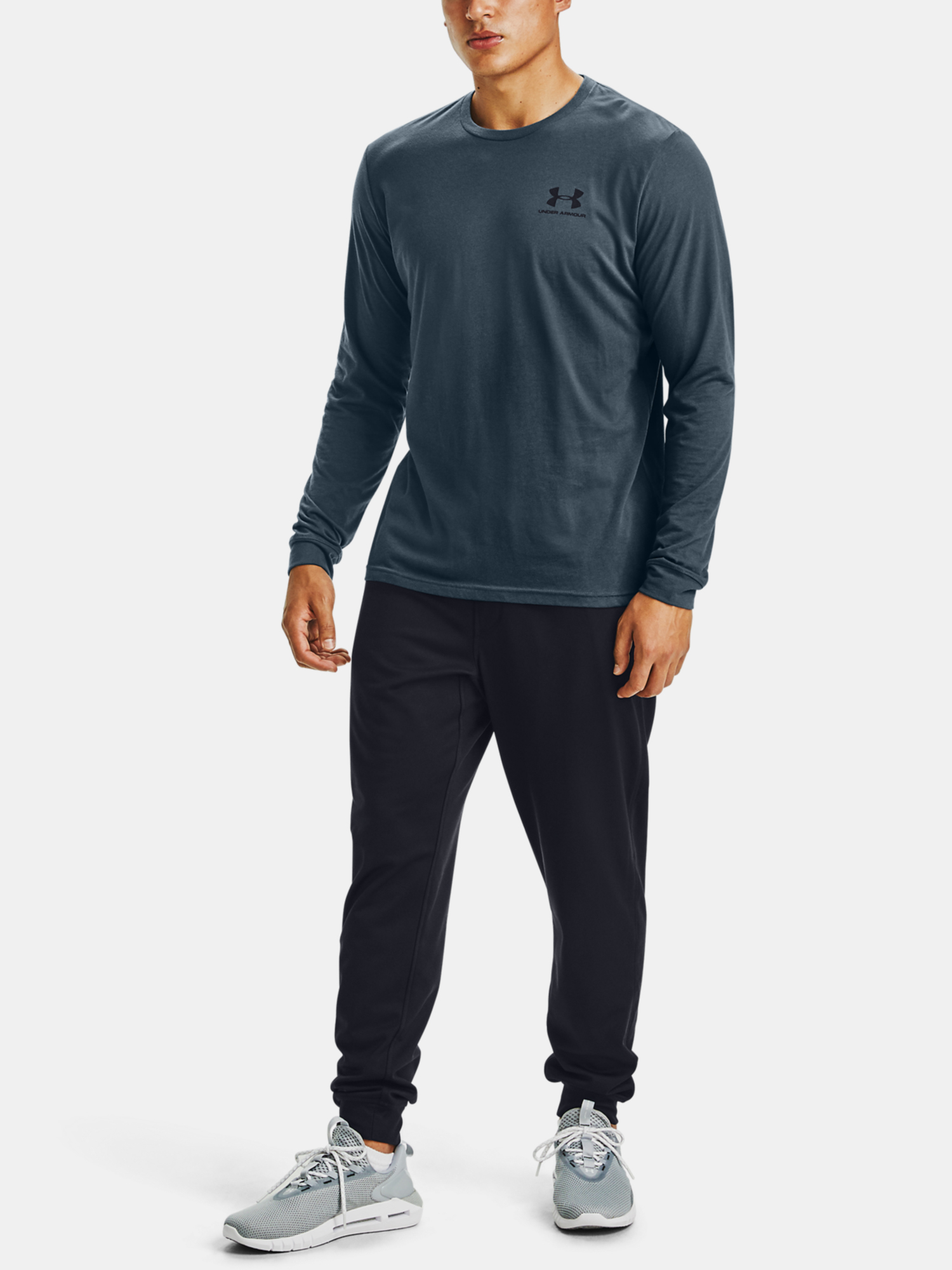 Tričko Under Armour SPORTSTYLE LEFT CHEST LS-BLU (6)
