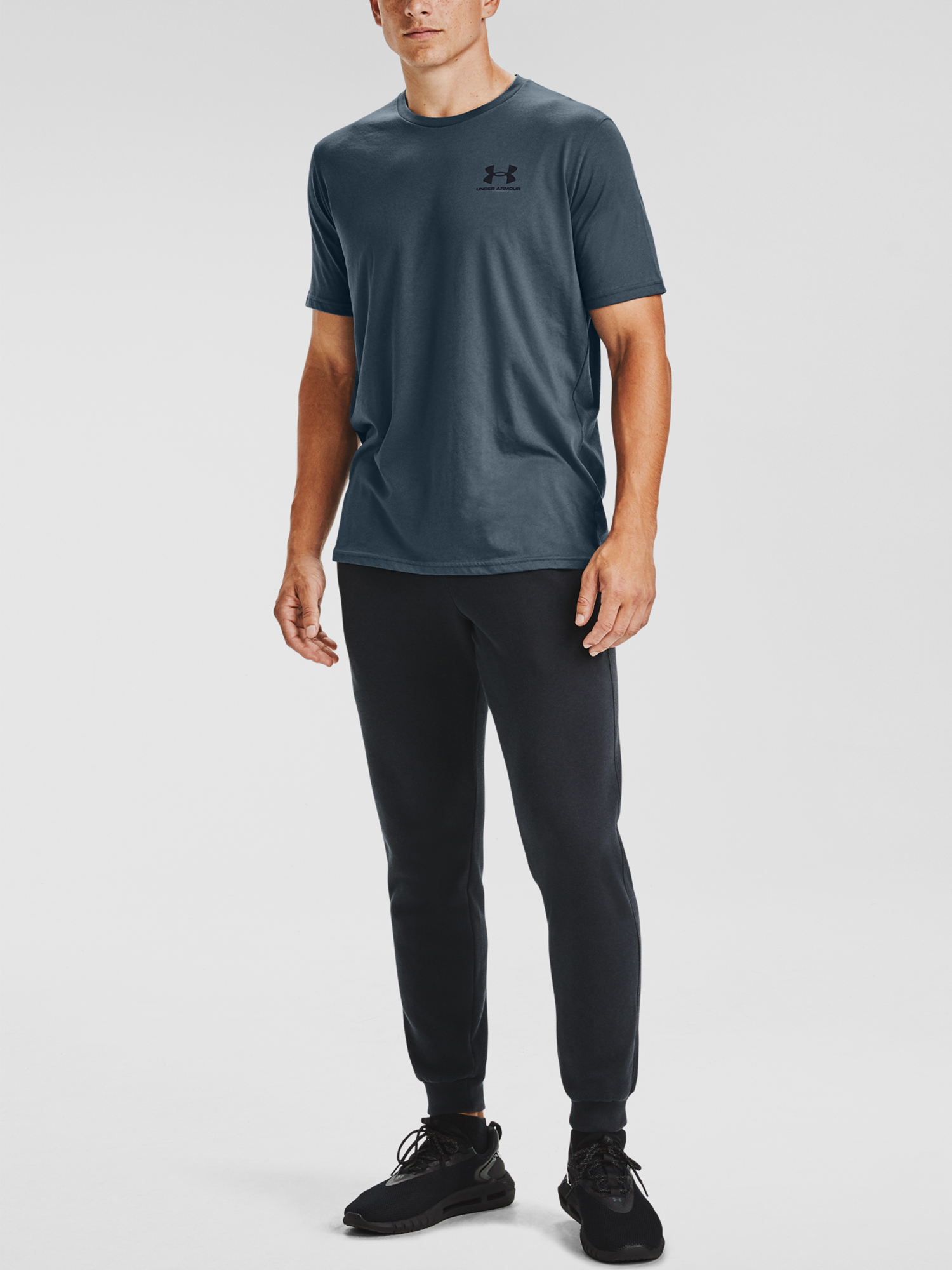 Tričko Under Armour SPORTSTYLE LC SS-BLU (6)