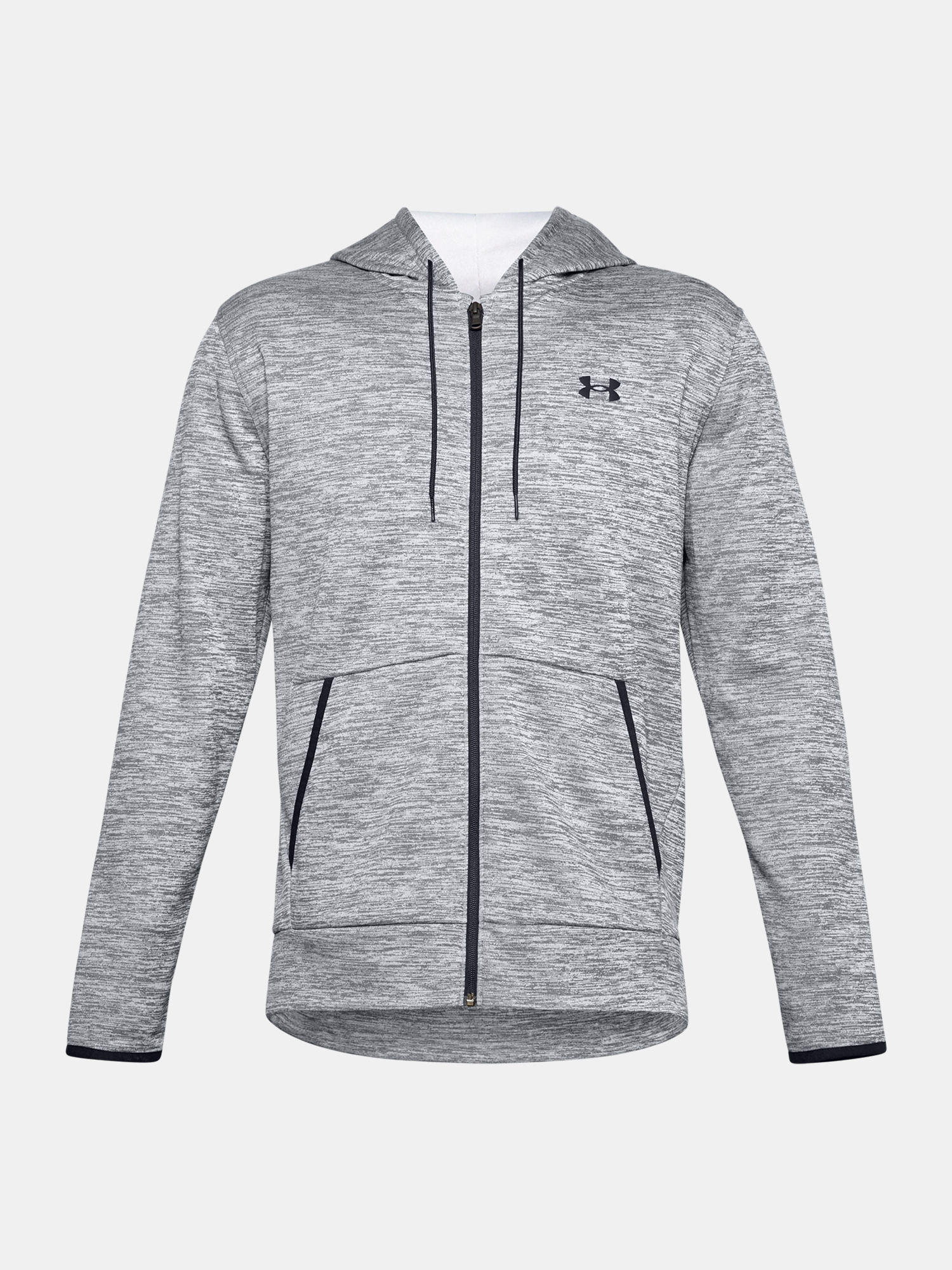 Mikina Under Armour UA Armour Fleece FZ Hoodie-GRY (1)