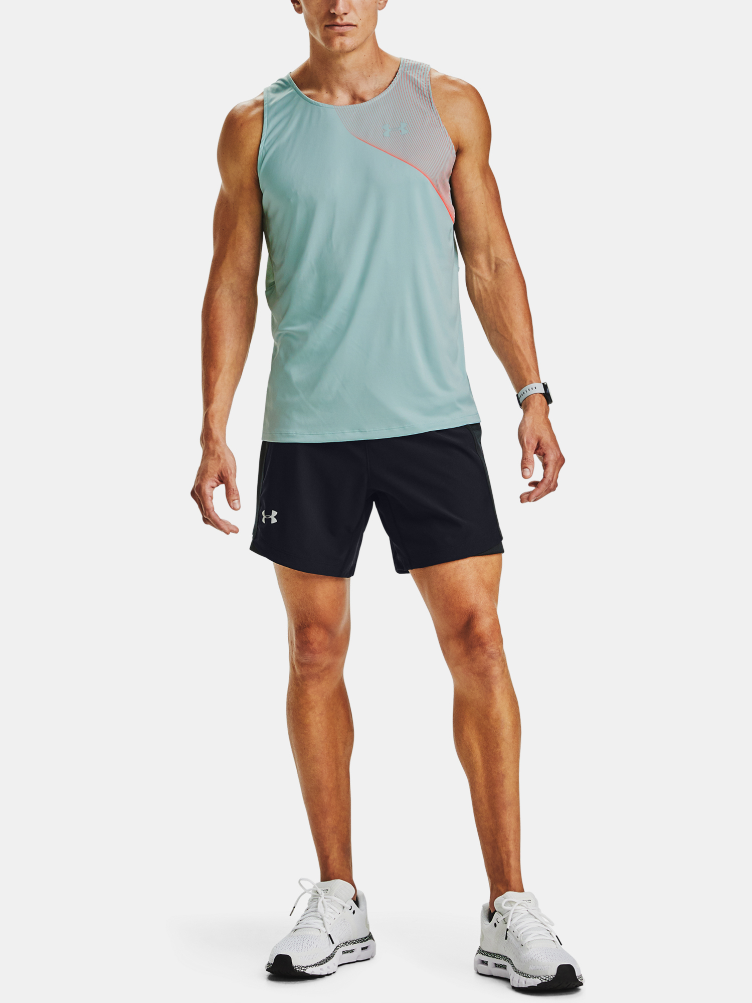 Tielko Under Armour M  Qlifier ISO-CHILL Singlet-BLU (6)