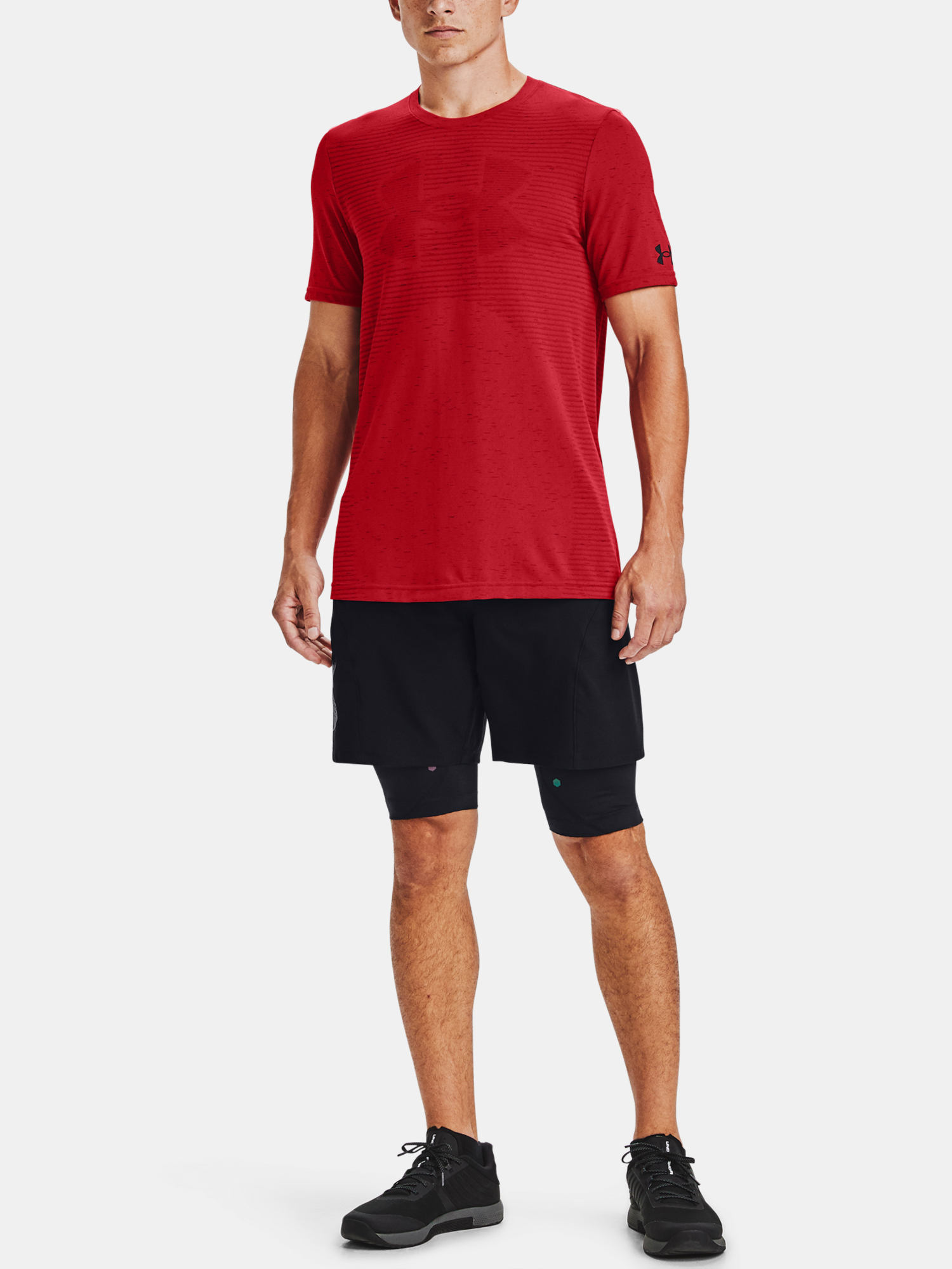 Tričko Under Armour Seamless Logo SS-RED (6)