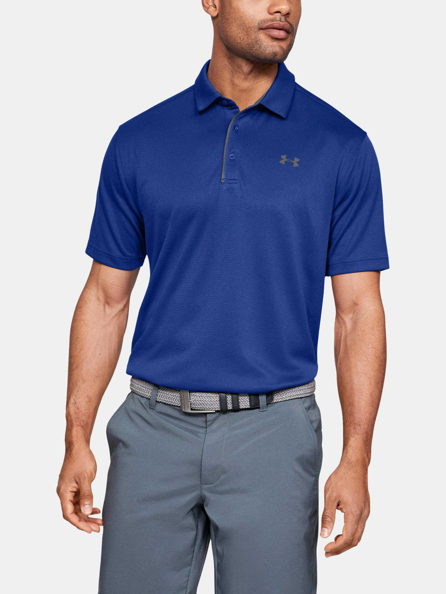 Tričko Under Armour Tech Polo-BLU (1)