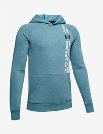 Mikina Under Armour Rival Wordmark Hoody-Grn