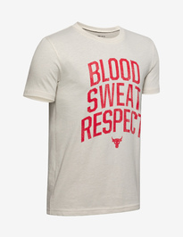 Tričko Under Armour Project Rock Blood Sweat Respect Ss