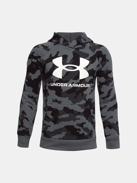Mikina Under Armour UA RIVAL FLEECE PRTD HOODIE-BLK