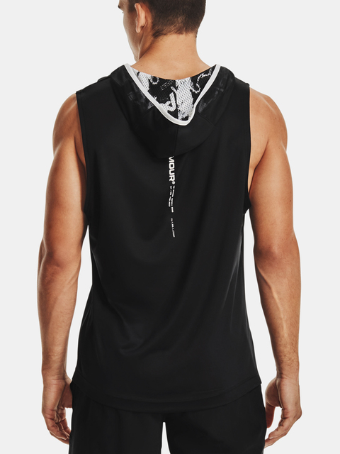 Mikina Under Armour Football Sleeveless Hoody-BLK