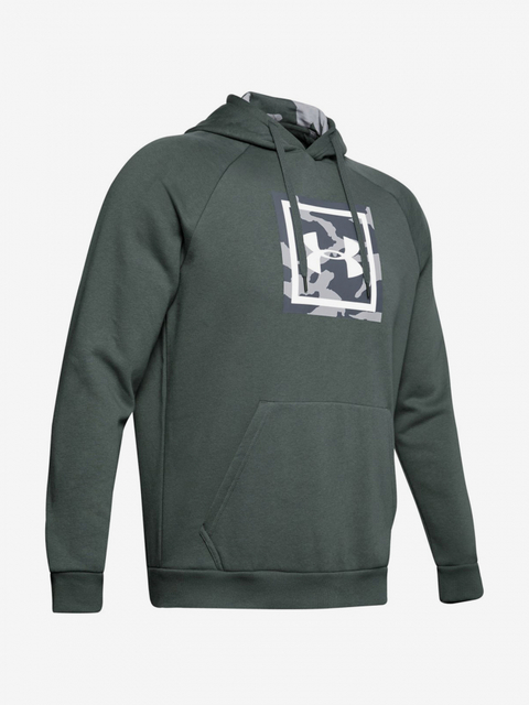 Mikina Under Armour Rival Fleece Printed Hoodie-Gry