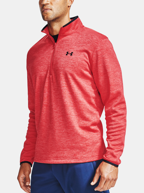 Mikina Under Armour Armour Fleece 1/2 ZIP-RED