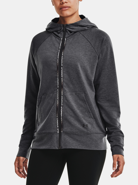 Mikina Under Armour Rival Terry Taped FZ Hoodie-GRY