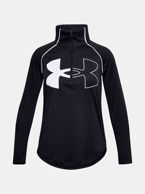 Tričko Under Armour Tech Graphic Logo Half Zip-BLK
