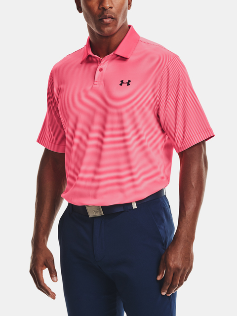 Tričko Under Armour Performance Stripe Polo-PNK