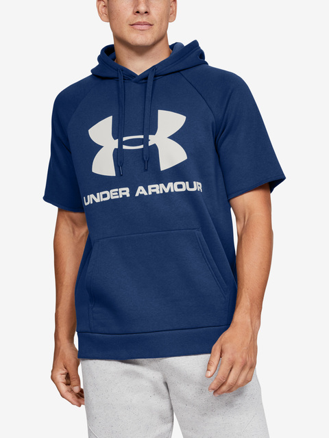Mikina Under Armour RIVAL FLEECE LOGO SS HOODIE-BLU
