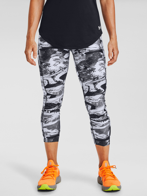 Legíny Under Armour UA HG Armour Prt Ankle Crop-BLK