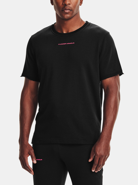 Tričko Under Armour UA RIVAL TERRY AMP SS CREW-BLK