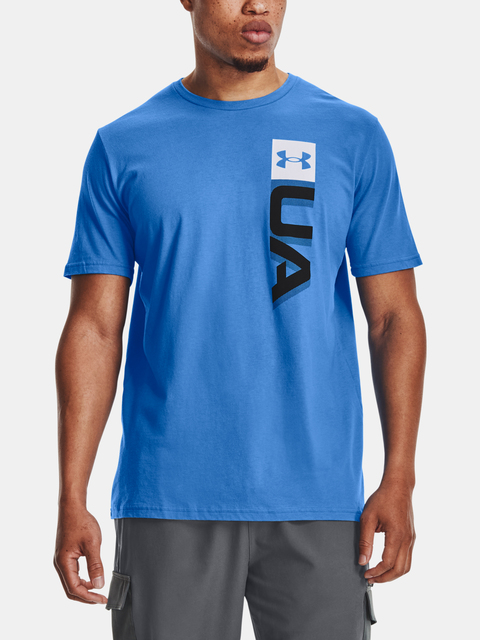 Tričko Under Armour UA BOXED WORDMARK SS-BLU