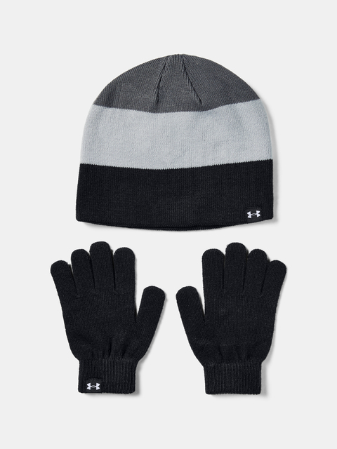 Čiapka a rukavice Under Armour Boys Beanie Glove Combo-BLK