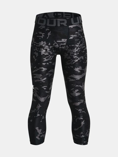 Legíny Under Armour UA HG Armour PRTD 3/4 LGS-BLK