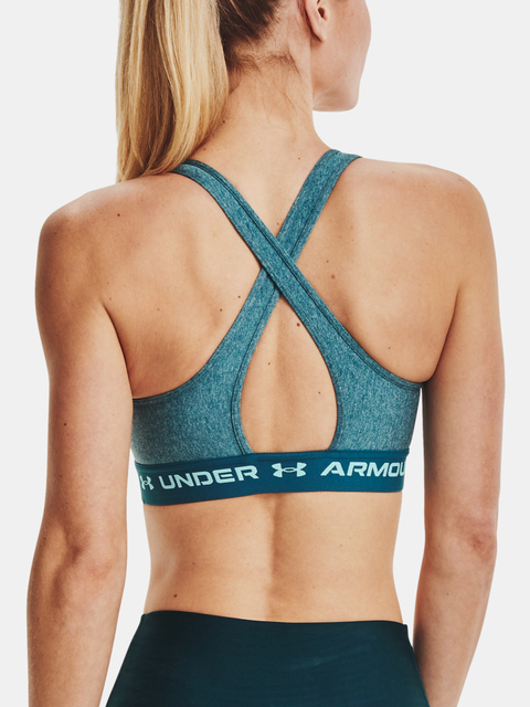 Podprsenka Under Armour UA Crossback Mid Heather Bra-BLU