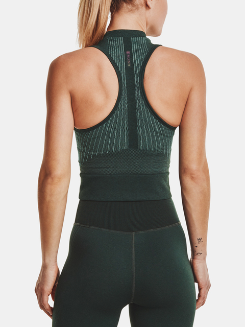 Tielko Under Armour Rush Seamless Crop Top-GRN