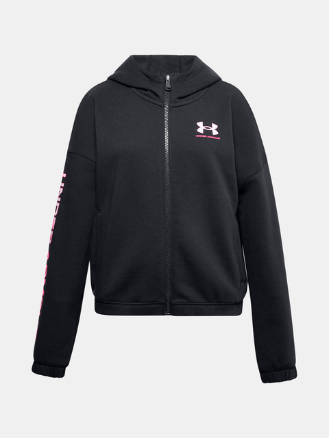 Mikina Under Armour Rival Fleece FZ Hoodie-BLK