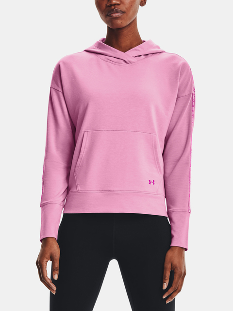 MIkina Under Armour Rival Terry Taped Hoodie-PNK