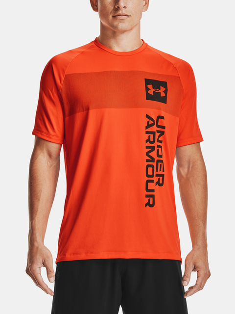 Tričko Under Armour UA TECH 2.0 VERT WRDMRK SS-ORG