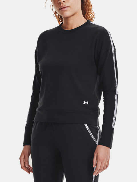 MIkina Under Armour Rival Terry Taped Crew-BLK