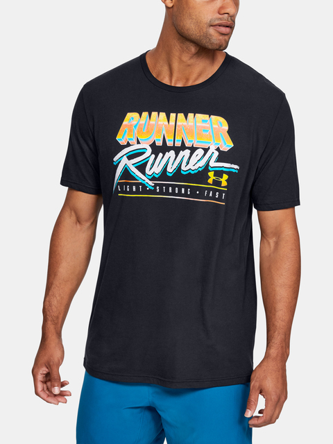 Tričko Under Armour RUNNER RUNNER SHORT SLEEVE-BLK