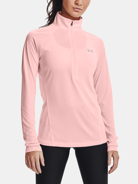 Tričko Under Armour Tech 1/2 Zip - Twist-PNK