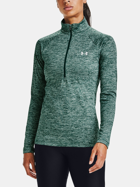 Tričko Under Armour Tech 1/2 Zip - Twist-GRN