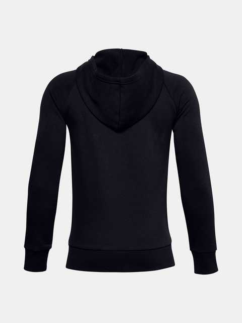 Mikina Under Armour UA RIVAL COTTON FZ HOODIE-BLK