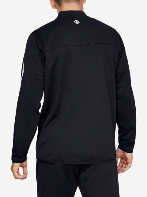 Mikina Under Armour Athlete Recovery Knit Warm Up Top-Blk