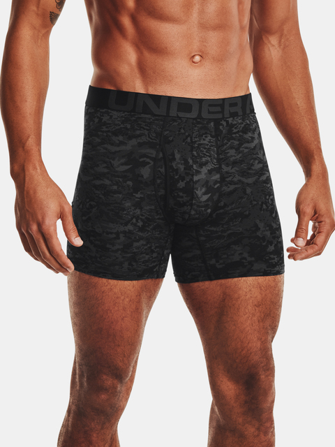 Boxerky Under Armour UA CC 6in Novelty 3 Pack-BLK
