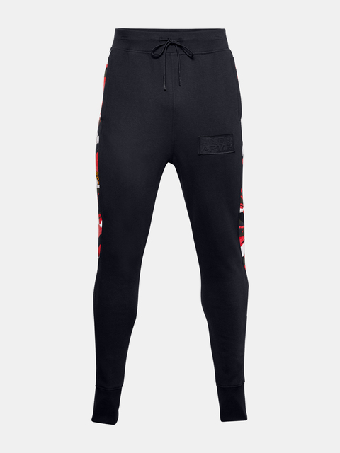 Nohavice Under Armour CNY FLEECE SNAP PANT-BLK