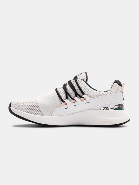Topánky Under Armour UA W Charged Breathe FN PRNT-WHT