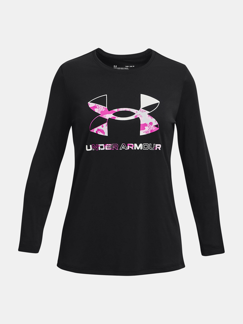Tričko Under Armour Tech Grphic Print Fill BL LS-BLK