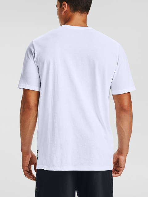 Tričko Under Armour CURRY FREEHAND EDDY SS TEE-WHT
