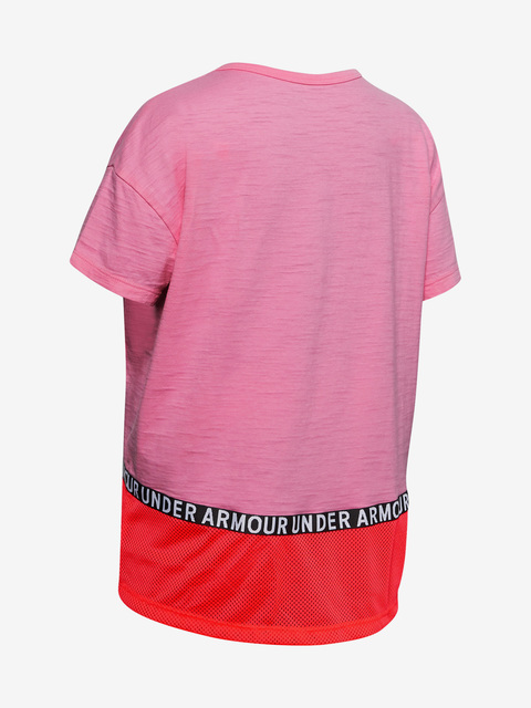 Tričko Under Armour Charged Cotton Taped SS T-Shirt-PNK