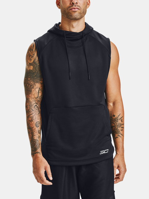 Mikina Under Armour CURRY SLEEVELESS HOODY-BLK