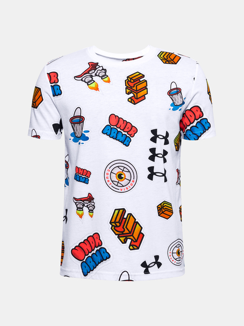 Tričko Under Armour UA HOOPS STICKER TEE-WHT