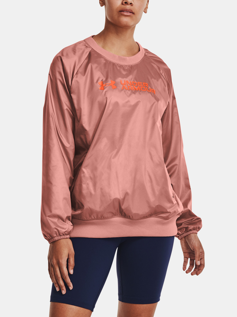 Mikina Under Armour Recover Woven Shine Crew-PNK