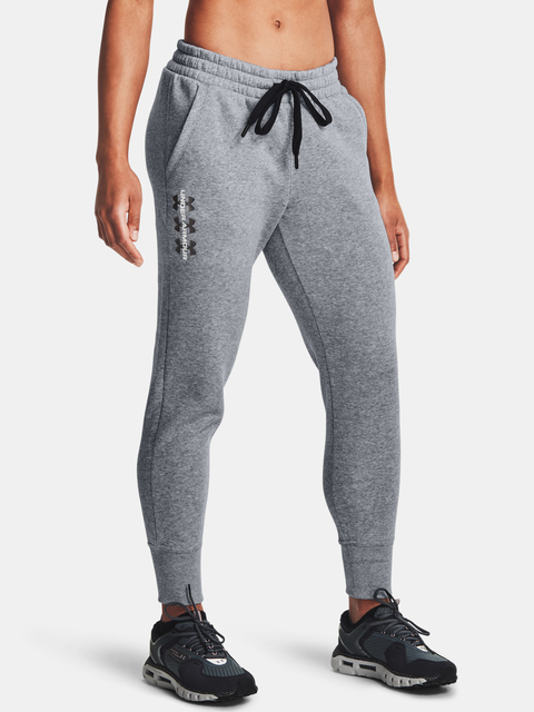 Nohavice Under Armour Rival Fleece Pants-AMP-GRY