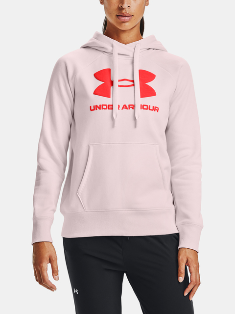 Mikina Under Armour Rival Fleece Logo Hoodie-PNK