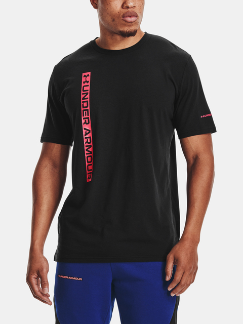 Tričko Under Armour UA VERTICAL WORDMARK SS-BLK