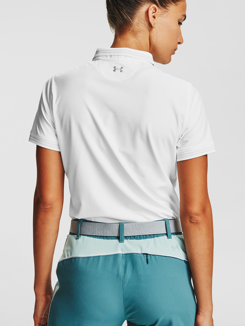Tričko Under Armour Zinger Pique Polo-WHT